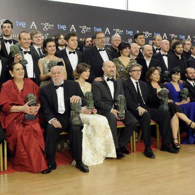 Posado de todos los ganadores de los Premios Goya 2014
