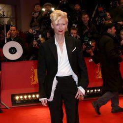 Tilda Swinton en la premiere de El Gran Hotel Budapest en el Festival de Cine Internacional de Berlín 2014