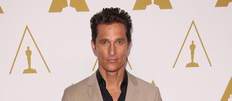 Matthew McConaughey en el almuerzo de los nominados a los Oscar 2014