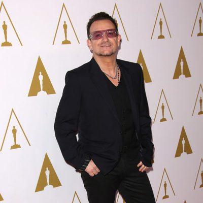Bono en el almuerzo de los nominados a los Oscar 2014
