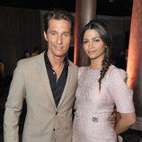 Matthew McConaughey y Camila Alves en el almuerzo de los nominados a los Oscar 2014