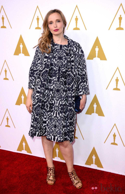Julie Delpy en el almuerzo de los nominados a los Oscar 2014