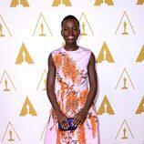 Lupita Nyong'o en el almuerzo de los nominados a los Oscar 2014