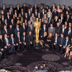 Foto de grupo de los candidatos a los Oscar 2014 en el almuerzo de los nominados
