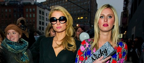 Paris y Nicky Hilton en la Semana de la Moda de Nueva York 2014