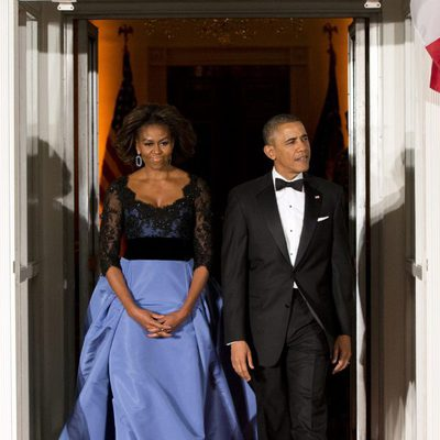 Barack y Michelle Obama en una cena de gala en honor a François Hollande