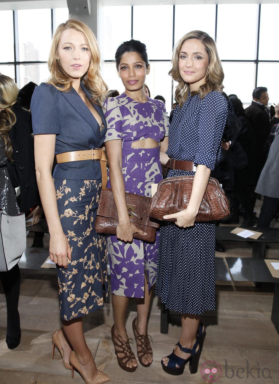 Blake Lively, Freida Pinto y Rose Byrne en la Semana de la Moda de Nueva York 2014