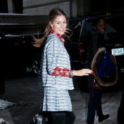 Olivia Palermo en el desfile de Ann Sui en la Semana de la Moda de Nueva York 2014