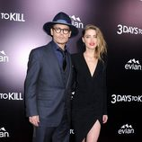 Johnny Depp y Amber Heard en el estreno de '3 Days to Kill' en Los Angeles