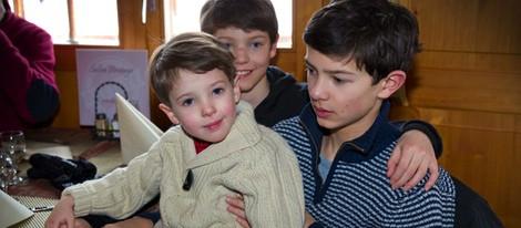Los Príncipes Enrique, Nicolás y Félix de Dinamarca en Suiza