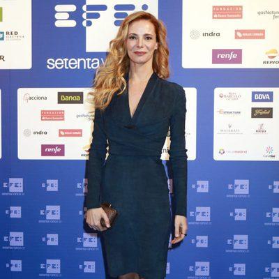 Paula Vázquez en la inauguración de la nueva sede de la Agencia EFE