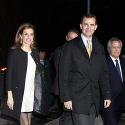 Los Príncipes Felipe y Letizia en la inauguración de la nueva sede de la Agencia EFE
