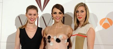 Paula Echevarría, Manuela Velles y Cecilia Freire en la presentación de 'Galerías Velvet'
