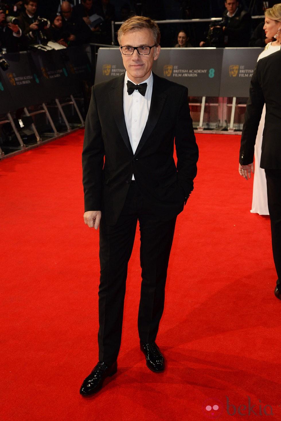 Christoph Waltz en la alfombra roja de los BAFTA 2014