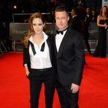 Brad Pitt y Angelina Jolie en los BAFTA 2014