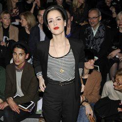 Vega en el desfile de Ion Fiz en Madrid Fashion Week otoño/invierno 2014/2015