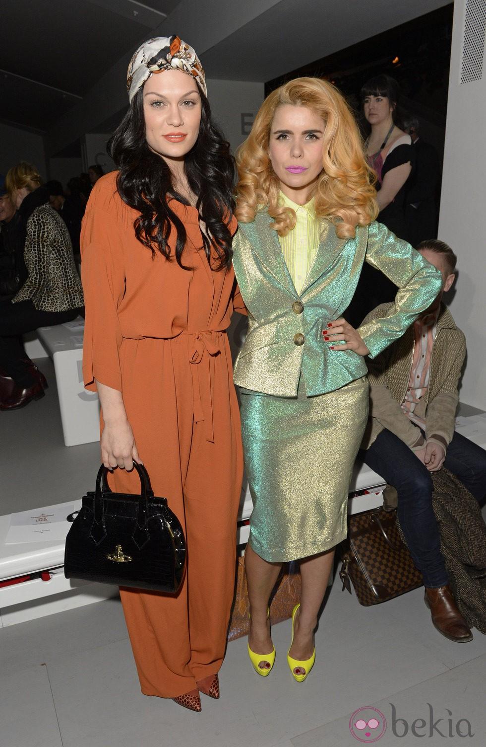 Jessie J y Paloma Faith en el front row de la Semana de la Moda de Londres 2014