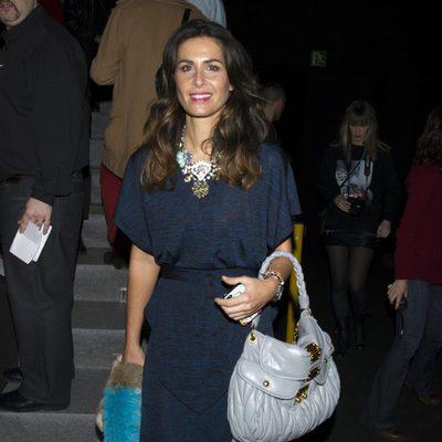 Nuria Roca en el front row de Davidelfín en Madrid Fashion Week 2014
