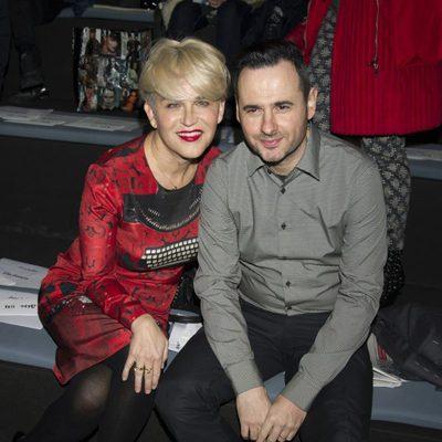 Antonia San Juan y Luis Miguel Segui en el front row de Davidelfín en Madrid Fashion Week 2014