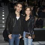 Marc Clotet y Natalia Sánchez en el front row de Davidelfín en Madrid Fashion Week 2014