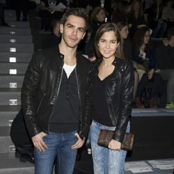 Marc Clotet y Natalia Sánchez en el front row de Davidelfín en Madrid Fashion Week 2014