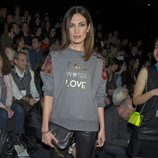 Nieves Álvarez en el front row de Juanjo Oliva en Madrid Fashion Week 2014