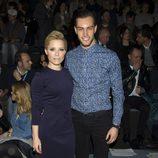 Soraya y Miguel Herrera en el front row de Juanjo Oliva en Madrid Fashion Week 2014