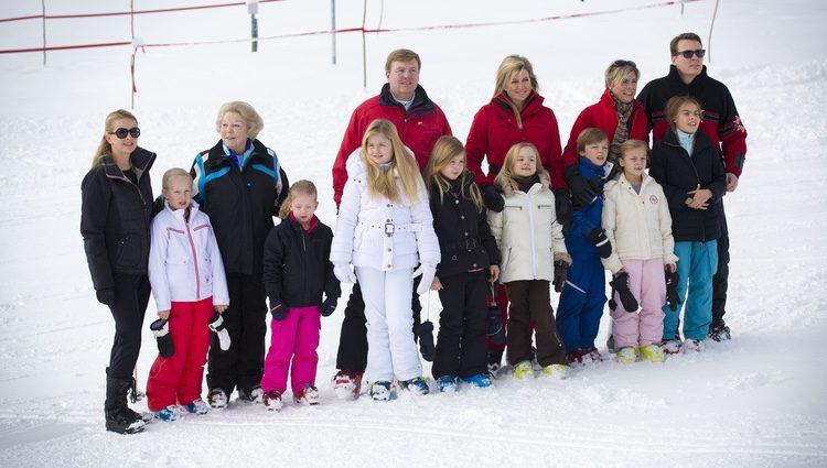 La Familia Real Holandesa posa en sus vacaciones de invierno en Austria