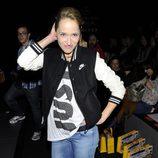Marta Larralde en el front row de Carlos Díez y María Escoté en Madrid Fashion Week 2014