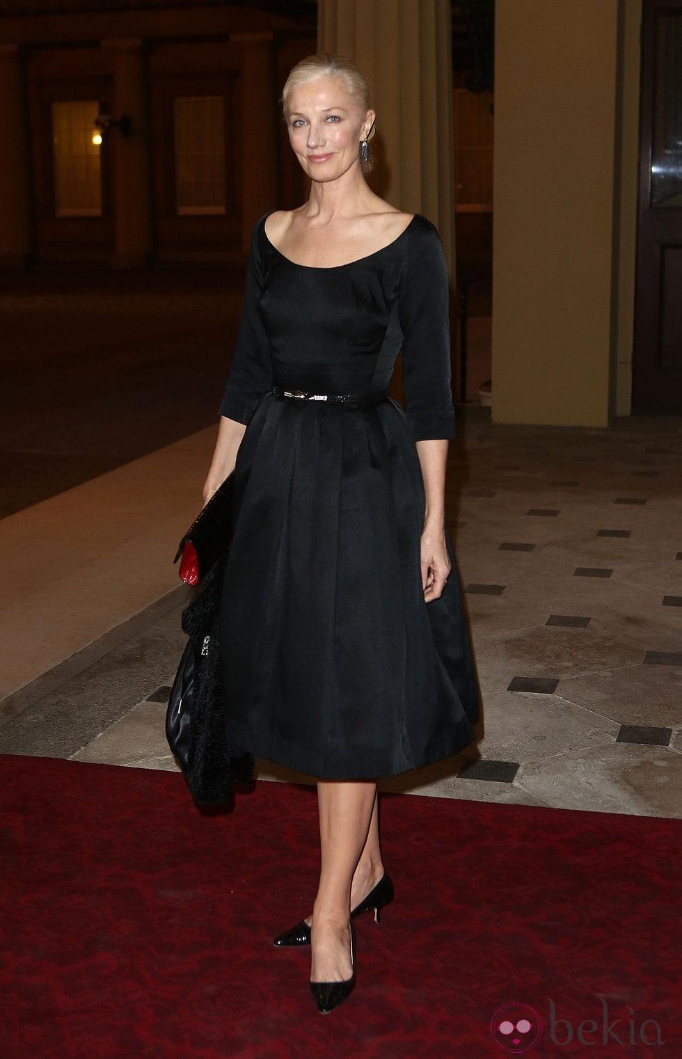 Joely Richardson en una recepción en Buckingham Palace