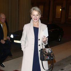 Helen Mirren en una recepción en Buckingham Palace