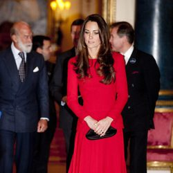 Kate Middleton en una recepción en Buckingham Palace