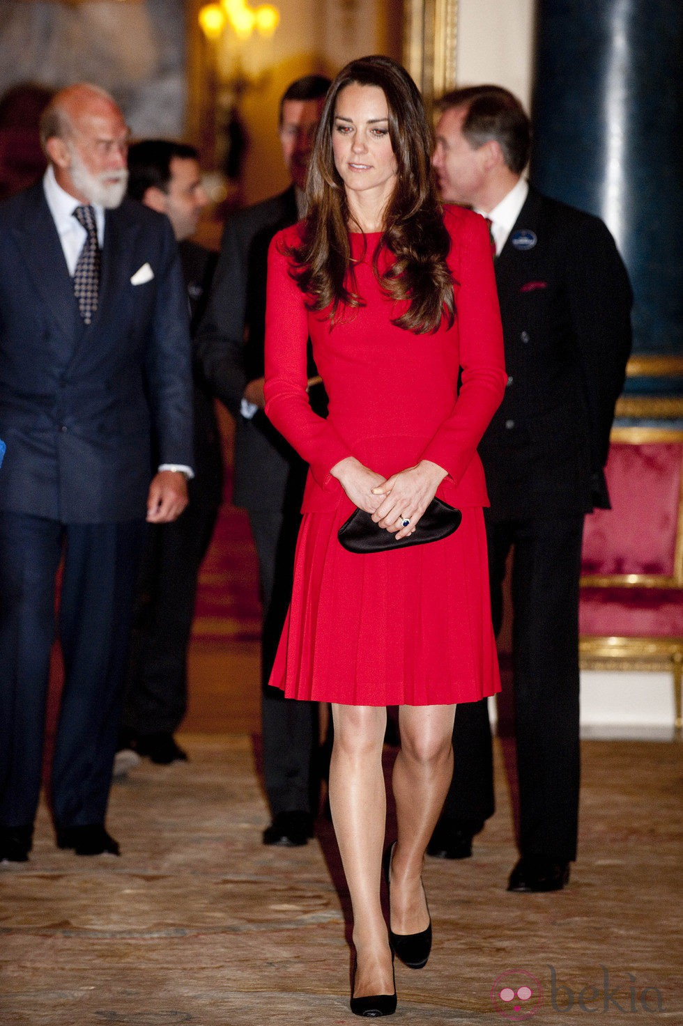 Kate Middleton en una recepción en Buckingham Palace
