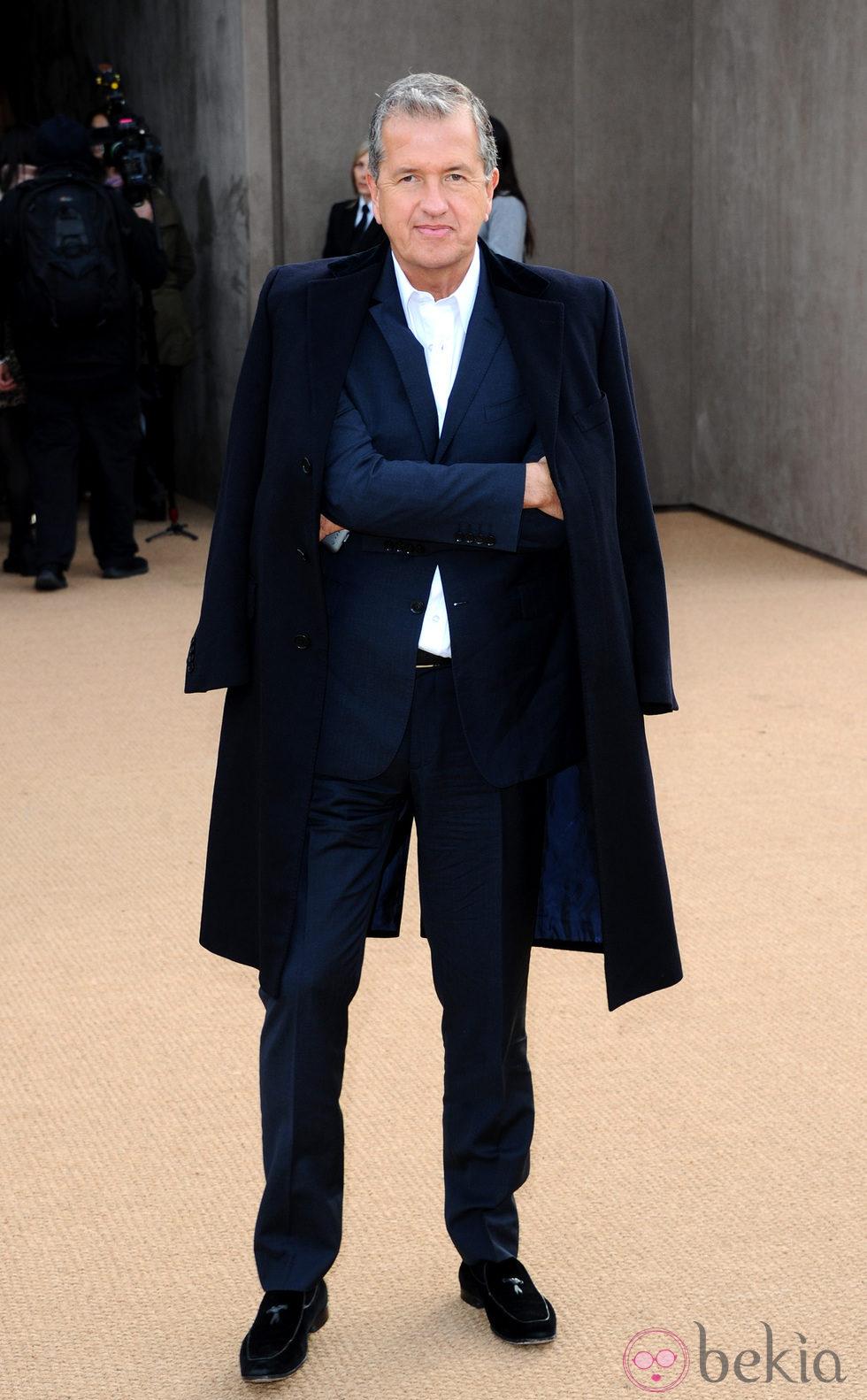 Mario Testino en el defile de Burberry en la Londres Fashion Week 2014