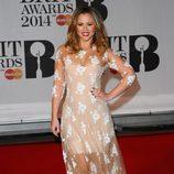 Kimberley Walsh en los Brit Awards 2014