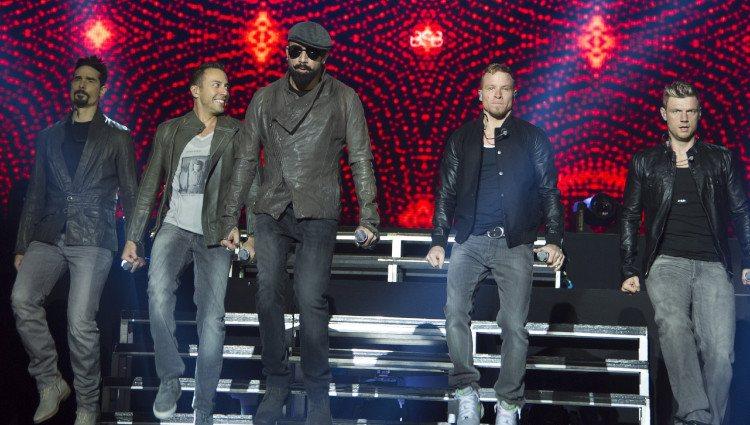 Backstreet Boys durante un concierto en el Palacio Vistalegre de Madrid