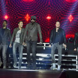 Backstreet Boys durante un concierto en el Palacio Vistalegre de Madrid