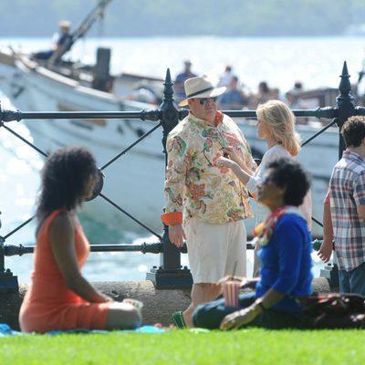 Parte del reparto de 'Modern Family' en el rodaje en Australia de la quinta temporada