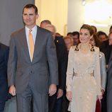 Los Príncipes Felipe y Letizia en la inauguración de ARCO 2014