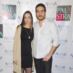 Alberto Ammann y Clara Méndez-Leite en la fiesta de aniversario de un gimnasio