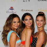 Chrissy Teigen, Lily Aldridge y Nina Agdal en el evento de presentación de la portada del número 50 de Sports Illustrated Swimsuit