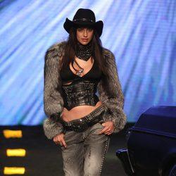 Irina Shayk en el desfile de Philipp Plein en la Milán Fashion Week 2014