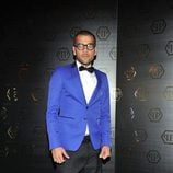 Dani Alves en el desfile de Philipp Plein en la Milán Fashion Week 2014