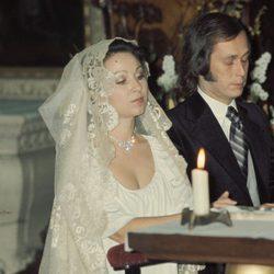 Paco de Lucía y Casilda Varela el día de su boda