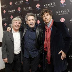 Ángel Nieto, Miguel Ríos y Jesús Quintero en los Premios Pata Negra 2014