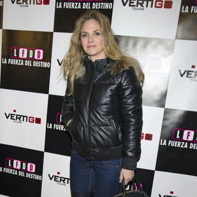 Genoveva Casanova en el estreno de 'La fuerza del destino' en Madrid