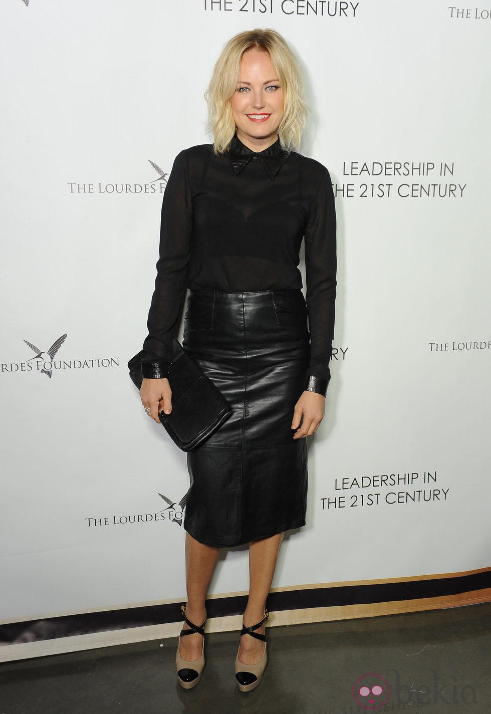 Malin Akerman en un acto organizado por la Fundación Lourdes en Los Angeles para conocer al Dalai Lama