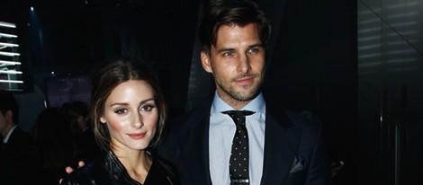 Olivia Palermo y Johannes Huebl en el desfile de H&M en la Semana de la Moda de París 2014