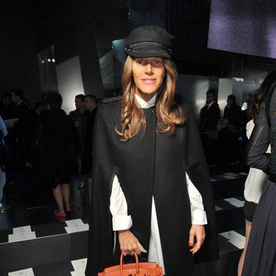 Anna dello Russo en el desfile de H&M en la Semana de la Moda de París 2014