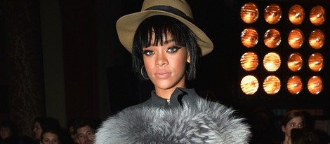 Rihanna en el desfile de Lanvin en la Paris Fashion Week 2014